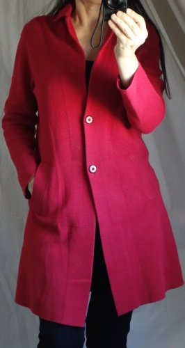 s.Oliver Knitted Coat neon red-red mixture fibre