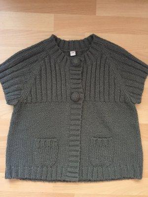 s.Oliver Short Sleeve Knitted Jacket grey polyacrylic