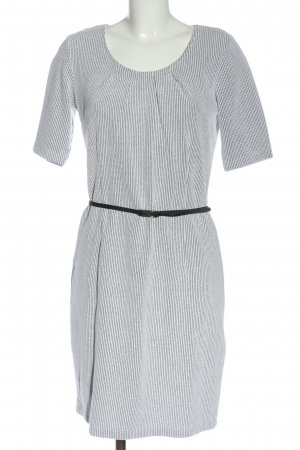 s.Oliver Knitted Dress white allover print casual look