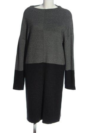 s.Oliver Knitted Dress black-light grey striped pattern elegant