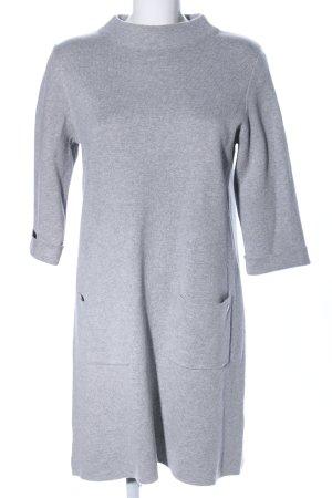s.Oliver Robe en maille tricotées gris clair moucheté style d'affaires