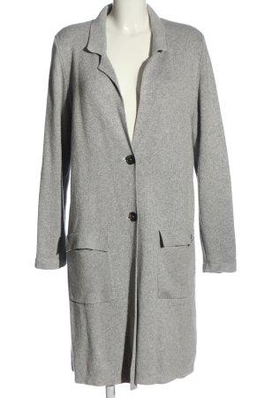 s.Oliver Cappotto a maglia grigio chiaro puntinato stile casual