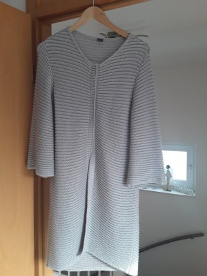 Knitted Coat silver-colored-light grey cotton