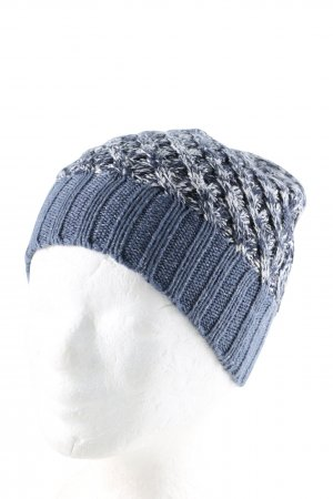 s.Oliver Knitted Hat blue-white casual look