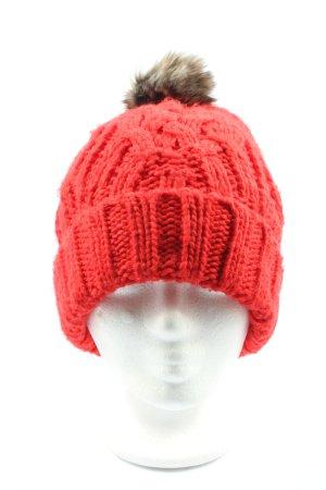 s.Oliver Chapeau en tricot rouge style décontracté