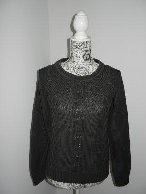 s.Oliver Pullover a maglia grossa antracite-talpa