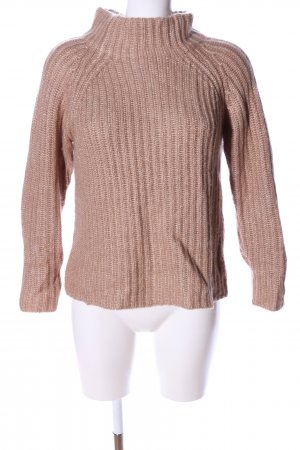 s.Oliver Strickpullover braun Zopfmuster Casual-Look