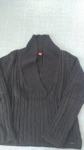 s.Oliver Pullover a maglia grossa marrone scuro