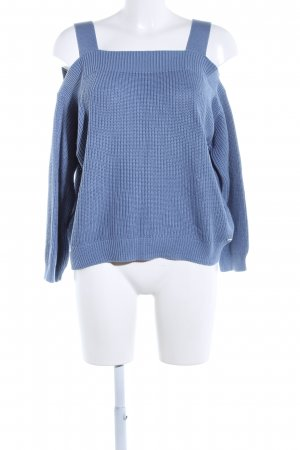 s.Oliver Strickpullover blau Zopfmuster Casual-Look