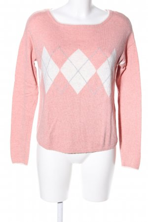 s.Oliver Strickpullover pink-wollweiß grafisches Muster Casual-Look