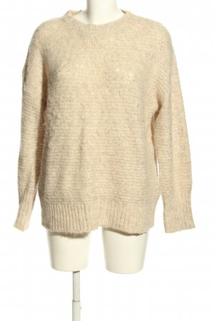 s.Oliver Strickpullover creme-silberfarben Webmuster Casual-Look