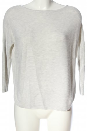 s.Oliver Strickpullover hellgrau meliert Casual-Look