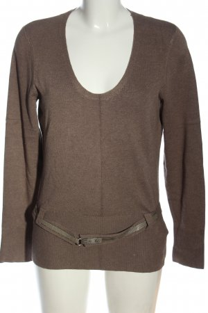 s.Oliver Strickpullover braun Casual-Look