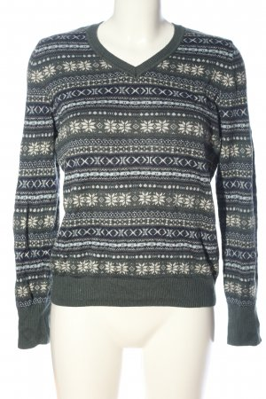 s.Oliver Strickpullover Allover-Druck Casual-Look