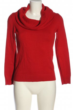 s.Oliver Strickpullover rot Zopfmuster Casual-Look