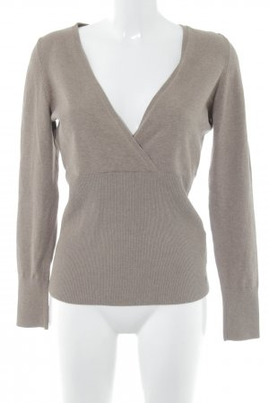 s.Oliver Strickpullover hellbraun Casual-Look