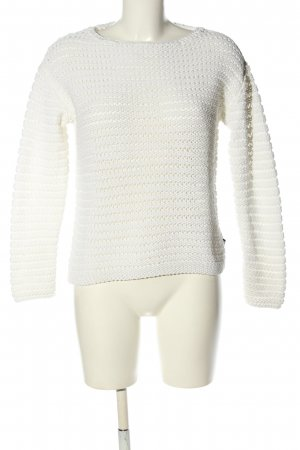 s.Oliver Strickpullover weiß Casual-Look