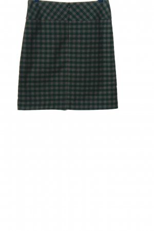 s.Oliver Knitted Skirt green-light grey check pattern casual look