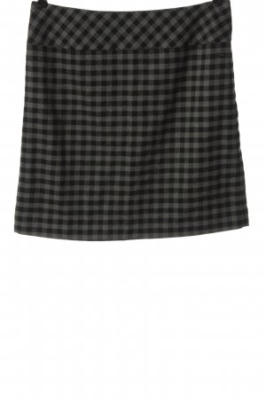 s.Oliver Knitted Skirt light grey-black check pattern casual look