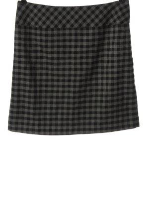 s.Oliver Jupe tricotée gris clair-noir motif à carreaux style décontracté