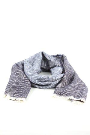 s.Oliver Gebreide sjaal blauw-wit gestreept patroon casual uitstraling