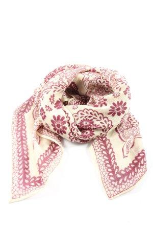 s.Oliver Écharpe en tricot blanc cassé-rose motif abstrait style décontracté