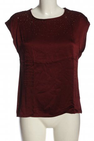 s.Oliver Strickshirt rot abstraktes Muster Elegant