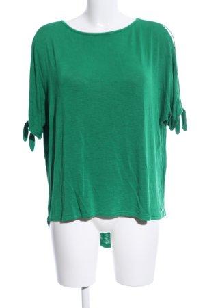 s.Oliver Gebreid shirt groen gestippeld casual uitstraling