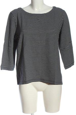 s.Oliver Strickshirt schwarz-weiß Streifenmuster Casual-Look