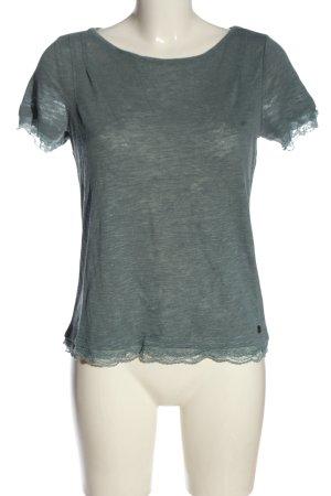 s.Oliver Camisa tejida gris claro-turquesa moteado look casual