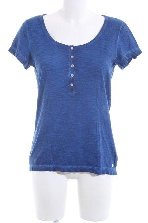 s.Oliver Strickshirt blau meliert Casual-Look