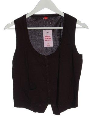 s.Oliver Gilet tricoté brun style décontracté
