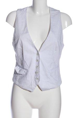 s.Oliver Chaleco de vestir blanco-gris claro estampado a rayas