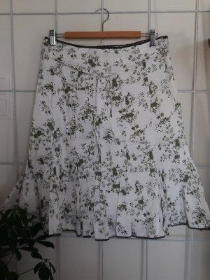 s. Oliver (QS designed) Falda gitana blanco-caqui