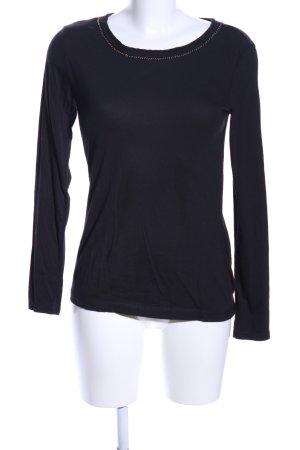 s.Oliver Sweatshirt zwart casual uitstraling