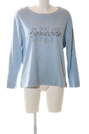 s.Oliver Sweatshirt blau meliert Casual-Look