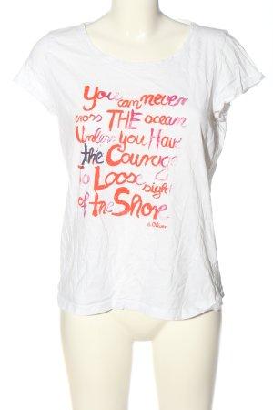 s.Oliver T-Shirt Schriftzug gedruckt Casual-Look