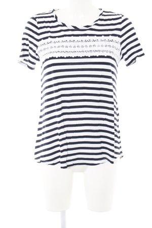 s.Oliver T-Shirt schwarz-weiß Streifenmuster Casual-Look