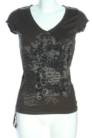 s.Oliver T-Shirt khaki Motivdruck Casual-Look