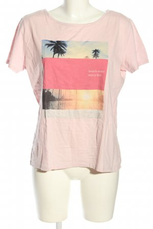 s.Oliver T-Shirt pink Motivdruck Casual-Look