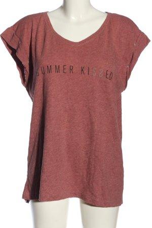 s.Oliver T-Shirt pink-schwarz meliert Casual-Look