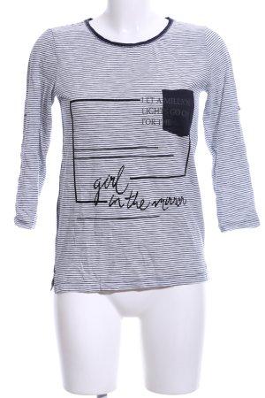 s.Oliver T-Shirt schwarz-weiß Schriftzug gedruckt Casual-Look