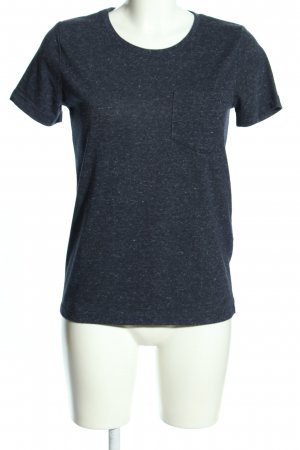 s.Oliver T-Shirt blau meliert Casual-Look