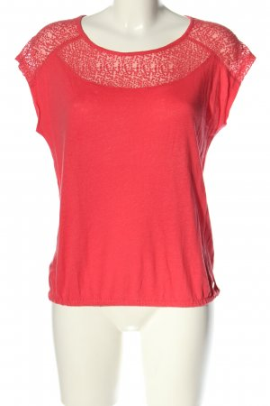 s.Oliver T-Shirt pink abstraktes Muster Casual-Look