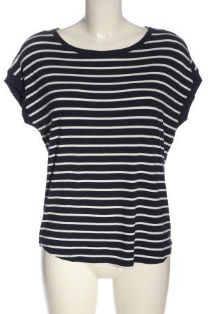 s.Oliver T-Shirt blau-weiß Streifenmuster Casual-Look