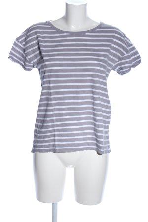s.Oliver T-Shirt hellgrau-weiß Allover-Druck Casual-Look