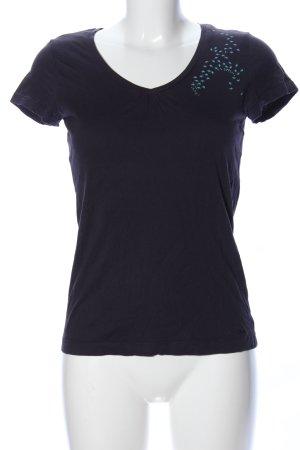 s.Oliver T-Shirt blau Motivdruck Casual-Look