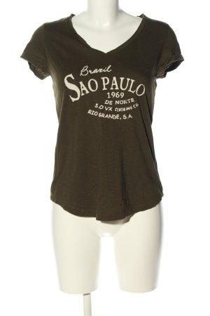 s.Oliver T-Shirt khaki-wollweiß meliert Casual-Look