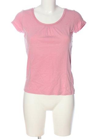 s.Oliver T-Shirt pink Schriftzug gedruckt Casual-Look