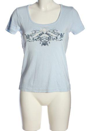s.Oliver T-Shirt blau Motivdruck sportlicher Stil